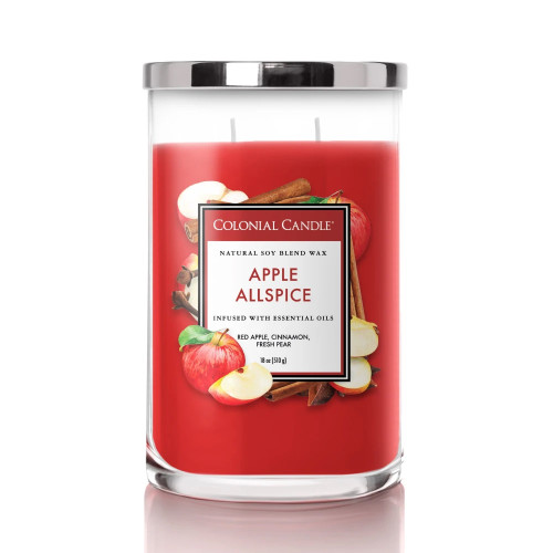 Apple Allspice 18 oz. Classic Cylinder Jar Colonial Candle