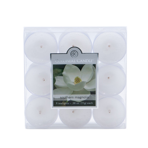 Southern Magnolia 9-Pack Tealights Colonial Candle