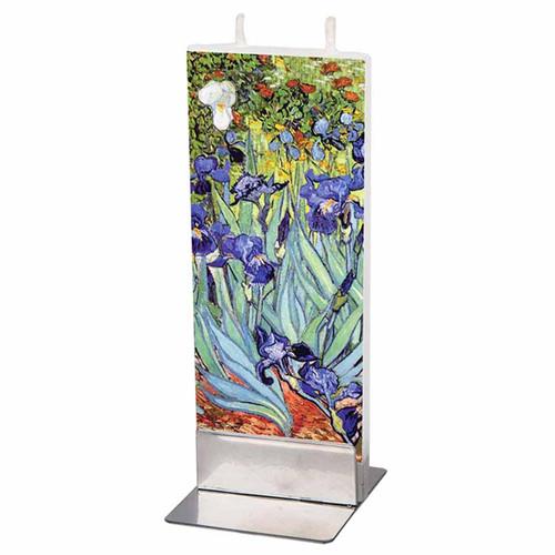 Van Gogh Irises Decorative Flat Candle by Flatyz Candles