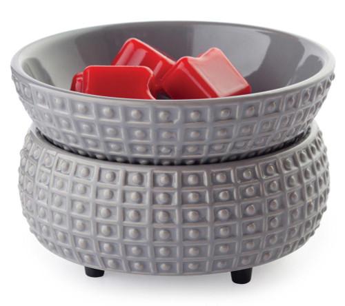 Slate Ceramic Fragrance Warmer with Dish