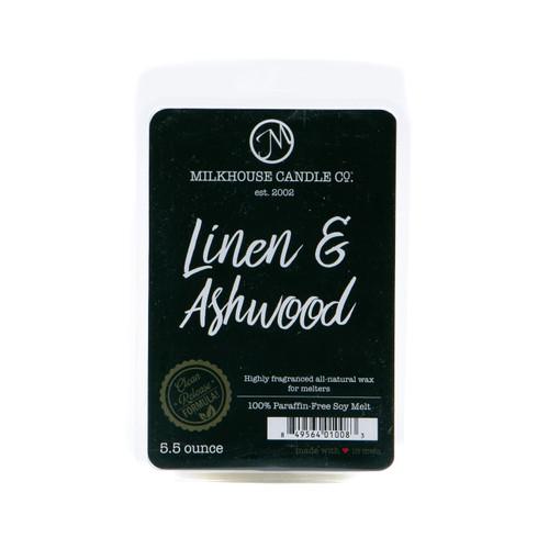 Linen & Ashwood 5.5 oz. Fragrance Melt by Milkhouse Candle Creamery
