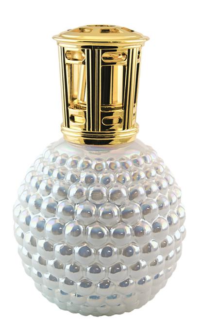 White Iridescent Hobnail Scentier Fragrance Lamp
