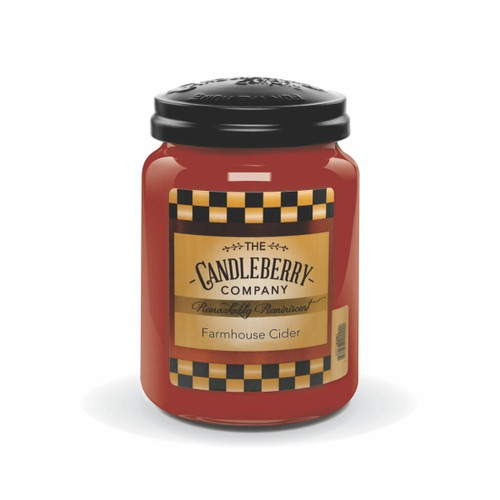 NEW! - Farmhouse Cider 26 oz. Large Jar by Candleberry Candle