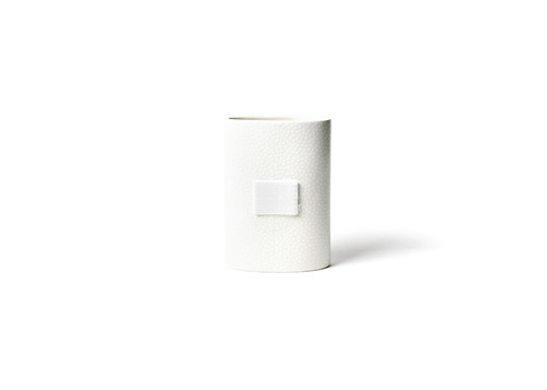 White Small Dot Mini Oval Vase by Happy Everything!