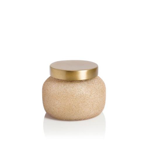 Pumpkin Dulce 8 oz. Champagne Glitter Glam Petite Jar Candle by Capri Blue