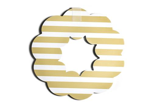 Neutral Stripe Big Wooden Wreath by Happy Everything!