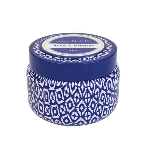No. 3 Aloha Orchid Printed Travel Tin  by Capri Blue