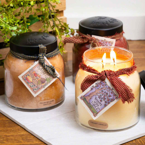 Autumn Orchards 34 oz. Papa Jar Keeper's of the Light Candle by A Cheerful Giver