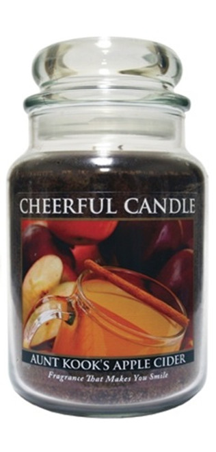 Aunt Kook's Apple Cider 24 oz. Cheerful Candle by A Cheerful Giver