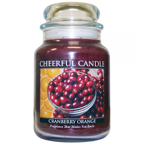 Cranberry Orange 24 oz. Cheerful Candle by A Cheerful Giver