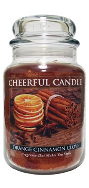 Orange Cinnamon Clove 24 oz. Cheerful Candle by A Cheerful Giver