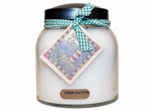 Crisp Cotton 34 oz. Papa Jar Keeper's of the Light Candle by A Cheerful Giver