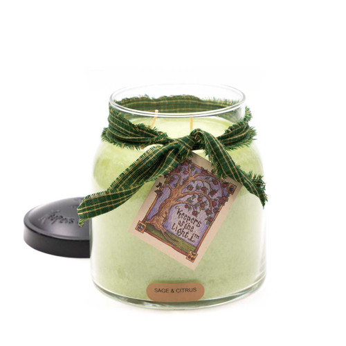 Sage & Citrus 34 oz. Papa Jar Keeper's of the Light Candle by A Cheerful Giver
