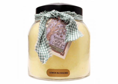 Lemon Blossoms 34 oz. Papa Jar Keepers of the Light Candle by A Cheerful Giver