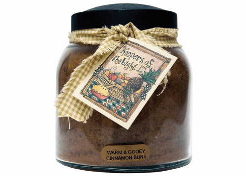 Warm & Gooey Cinnamon Buns 34 oz. Papa Jar Keeper's of the Light Candle by A Cheerful Giver