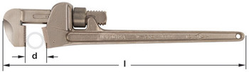 """Wrench, Pipe Aluminum 48"""" OAL"""