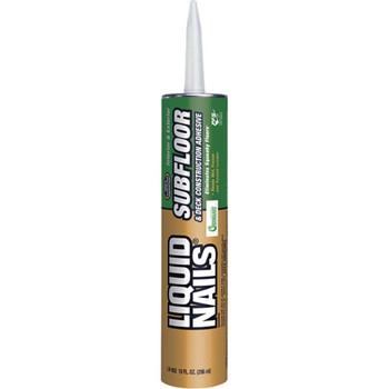 Liquid Nails 10 Oz Subfloor And Deck Construction Latex Adhesive, Case Of 24