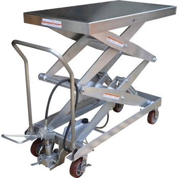 Vestil Silver Hydraulic Steel Cart