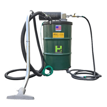 """30 Gallon Anti-Static Explosion-Proof Pneumatic Vacuum 85CFM with Silencer, 1.5"""" x 25' Hose"""