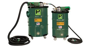"""30 Gallon Anti-Static Explosion-Proof Pneumatic Vacuum 85CFM ATEX, 2"""" x 15' Hose"""