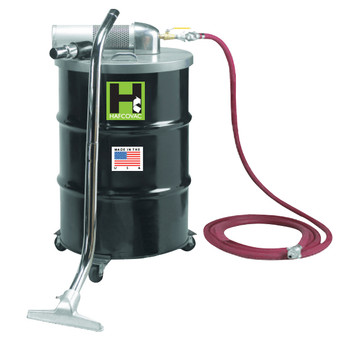 """30 Gallon Pneumatic Compressed Air Vacuum, 85CFM, 1.5"""" x 25' Hose"""