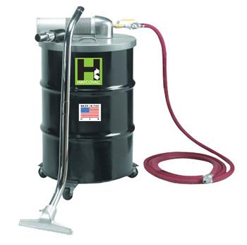 """30 Gallon Pneumatic Compressed Air Vacuum, 48CFM, 1.5"""" x 25' Hose"""