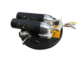 """Dual Head Vacuum, 185 CFM Required, 1½"""" Hose Connection for 30 Gallon Drum"""