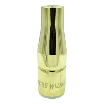 "3/8"" (9.5mm) Brass Bottle Nose Standard Duty PowerBall/Tregaskiss Slip-on Nozzle w/1/16"" Recessed Tip - 10/pk"