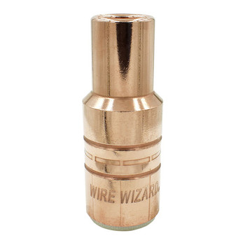 """5/8"""" (15.9mm) Copper Bottle Nose Standard Duty PowerBall/Tregaskiss Slip-on Nozzle w/Stick-out Tip - 10/pk"""