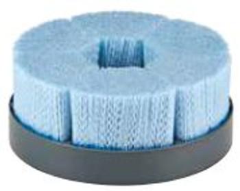 "10"" Shell Mill Holder Disc Brush, Dense, .055/80 CeramiX Abrasive Filament, 1-1/4"" A.H."