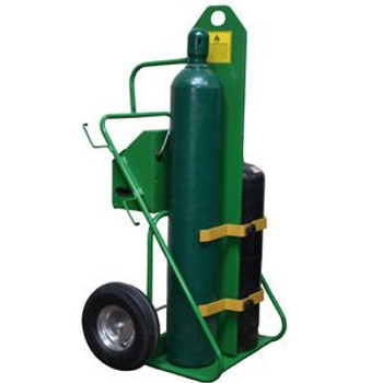 """Welding Oxygen and Fuel Cart with Cabinet and Firewall - 66"""" in Height"""