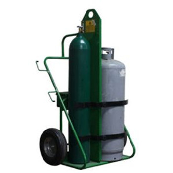Industrial Oxygen and Acetylene Cart, Pneumatic Tires, Perma Clamps, Firewall