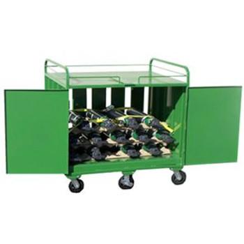 D&E Medical Cylinder Carrier, Lockable Door, Ratchet Straps, Wheels SC-53, SC-54