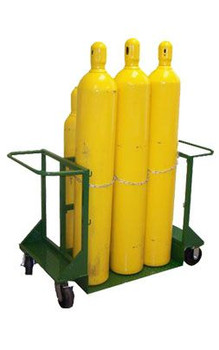 8 High Pressure Cylinders Carrier, Wheels SC-25, 26, Weight 145#
