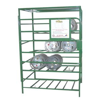 Propane Cylinders Lockable Storage Racks, Sliding Locator Pin, Cylinder Capacity 16ea, Weight 174lbs