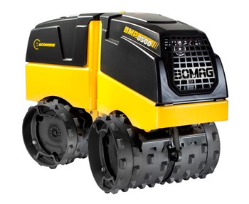 "Multi-Purpose Trench Roller Compactor - Radio Remote-Controlled - 33.5"" / 24"" Rollers, 3622 Lbs Weight, 8000 / 16000 Lbs Operating Weight"