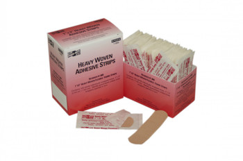 "1"" x 3"" Heavy Woven Fabric Bandages, 100 Per Box"