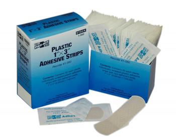 "1"" x 3"" Plastic Adhesive Bandage, 60 per Box"