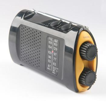 Handheld Portable Crank Radio with Flashlight