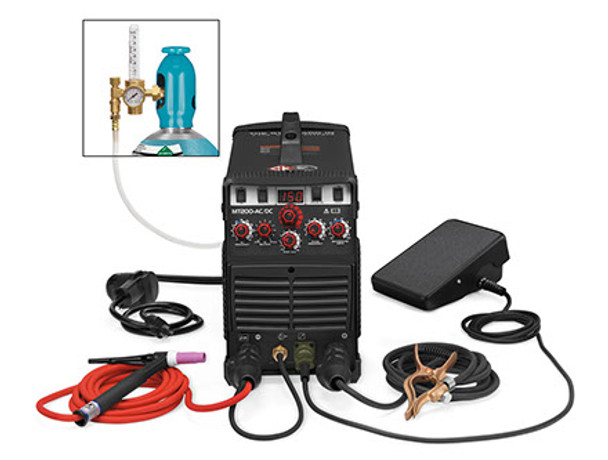 Complete TIG Welding System - 115V/220V AC/DC