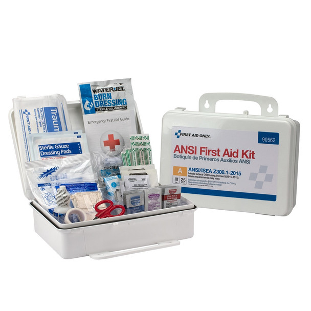 25 Person Bulk Plastic ANSI A, First Aid Kit 90562