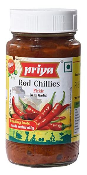 Priya Pkl - Red Chilli wo Glc 300g