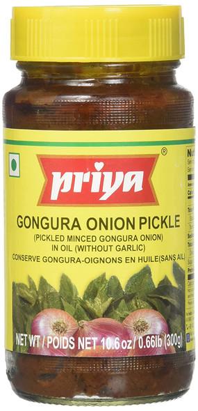 Priya Pkl - Onion Gongura wo Glc 300g