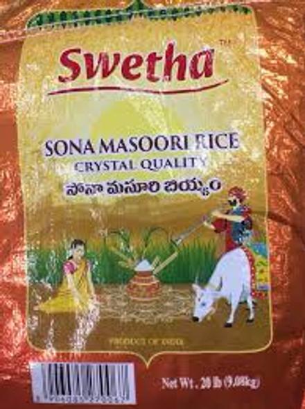 Swetha Crystal Sona Masoori 20lb