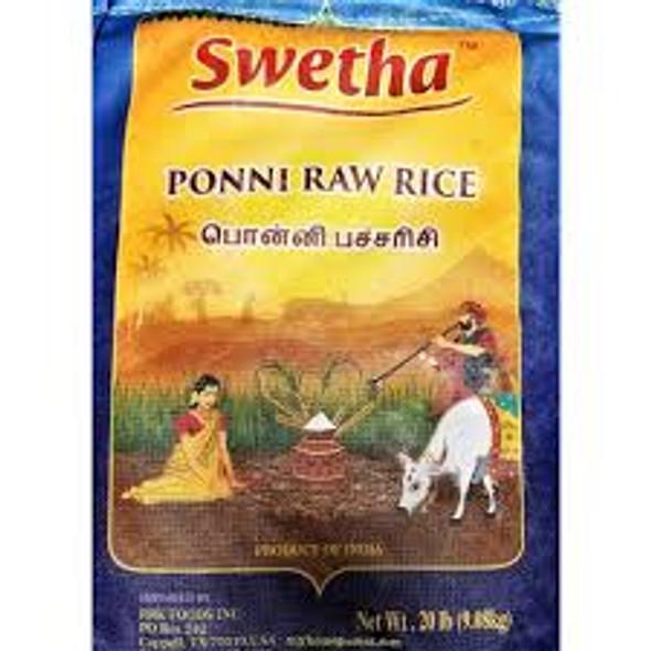Swetha Ponni Raw Rice 20lb