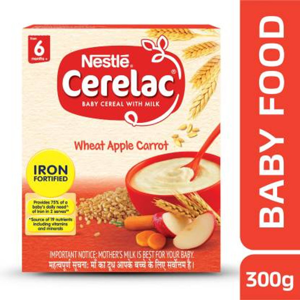 Cerelac Stage 1 Wheat, Apple & Carrot 300g