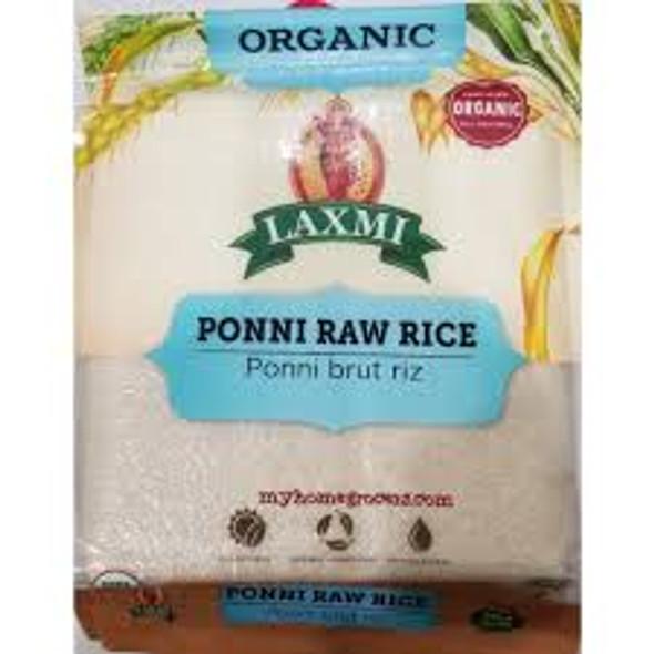 Laxmi Organic Ponni Raw Rice 10lb