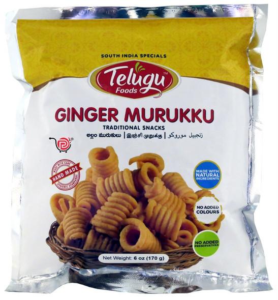 Telugu Snacks - Ginger Murukku 170g