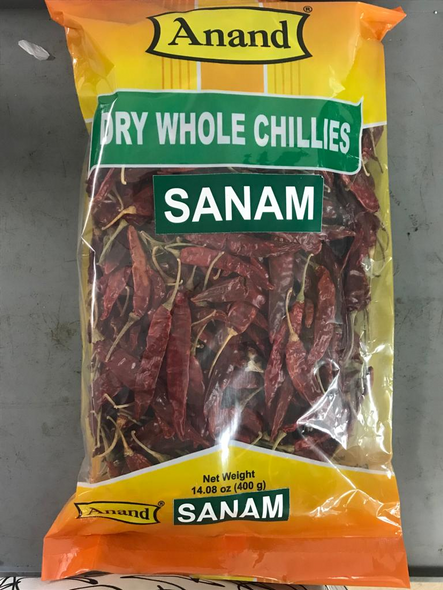 Red Chilli Whole Sanam 14oz - Anand
