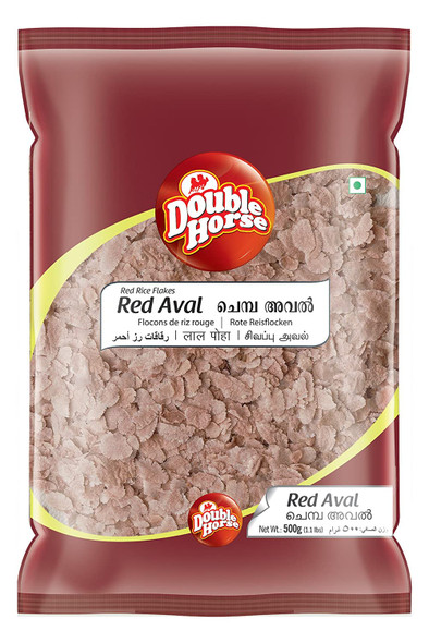 Double Horse Red Rice Poha 500g